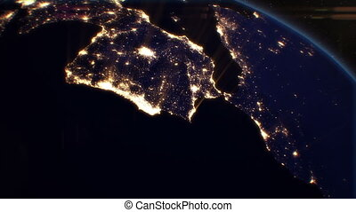 Night Cities from the Satellite. EU