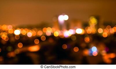 Night city abstract bokeh