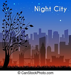 night city background concept. Vector illustration design
