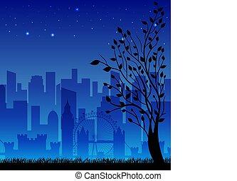 night city background concept. Vector illustration design