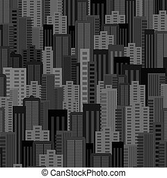 Night City Background. Urban Landscape