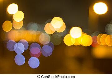 night city bokeh background