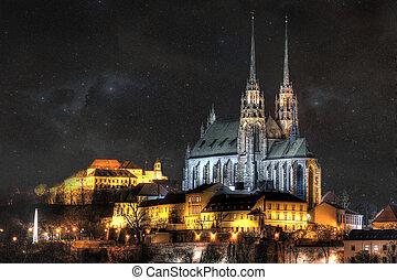 Night city Brno - Historick? %u010D?st m%u011Bsta Brna,...
