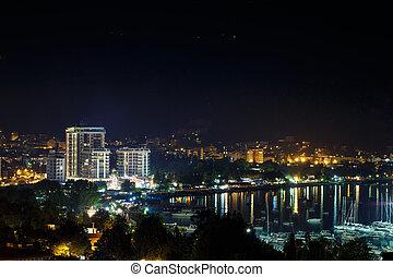Night city Budva, Montenegro