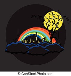 Night City Halloween Graphic