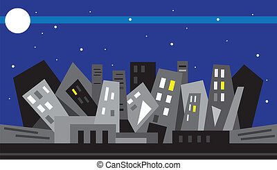 Night city - illustration