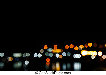 Night city light bokeh background