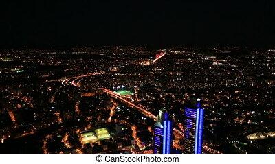night city light - aerial view night city at Istanbul Turkey