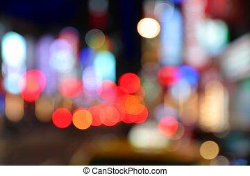Night city lights background