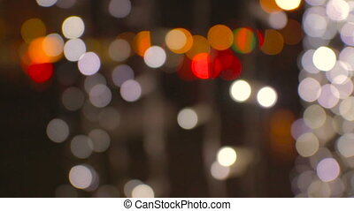 Night city lights defocused with nice bokeh background