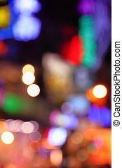 Night city neon lights
