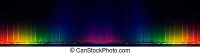 Night city panorama. Night view of the colorful city. Night landscape. Abstract dark background.