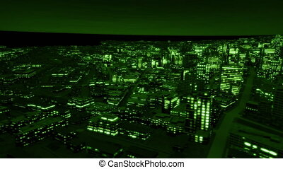 Night city side track night vision