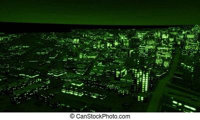Night city side track night vision