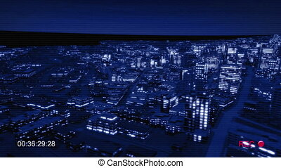 Night city side track night vision for cctv
