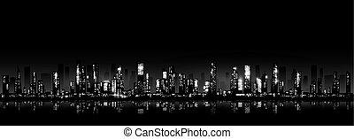 Night city skyline