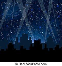 Starry Night Blue Sky.