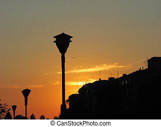 night city sunset