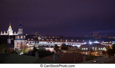 Night city timelapse