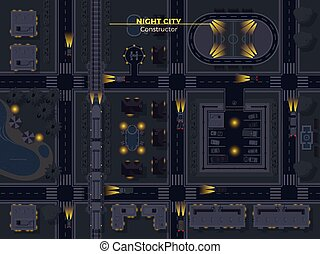 Night City Top View