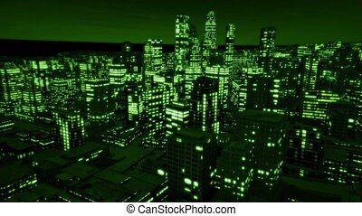 Night city track out night vision