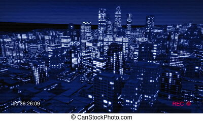 Night city track out night vision for cctv