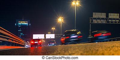 night city traffic