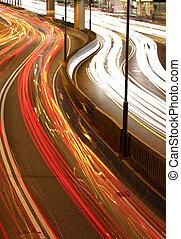 night city traffic streams