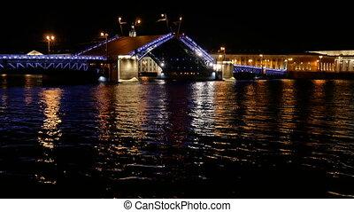 Night city water river