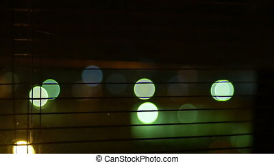 Night Closing the Window Shutter
