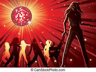 night-club, 人們, 跳舞
