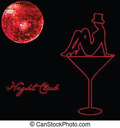 Night club advert