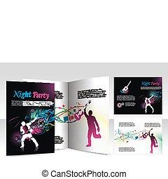 night club brochure design