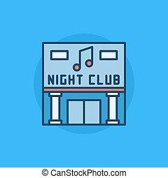 Night Club building flat icon