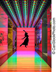 Night club - Silhouette of a dancer is my own image