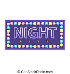 Night club emblem