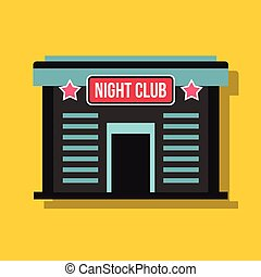 Night club in flat style with shadow