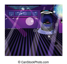 Night club interior - This illustration is a common ...