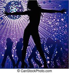 night-club, mensen, dancing