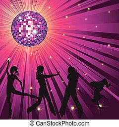 night-club, pessoas, dançar