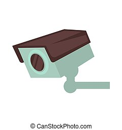 Night club security surveillance camera vector flat isolated icon