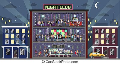 Night club set.