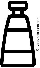 Night cream icon vector. Isolated contour symbol illustration