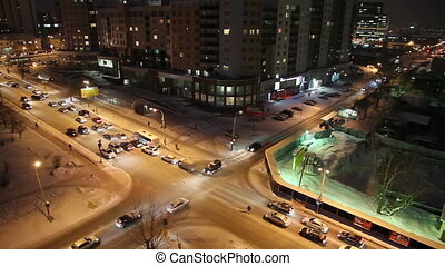 Night crossroads, Yekaterinburg, ul. Kuibyshev - st....