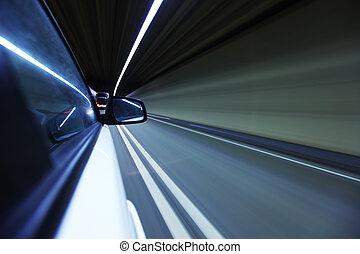 night drive on car