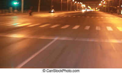night driving on the street