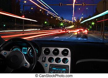 Night driving vision