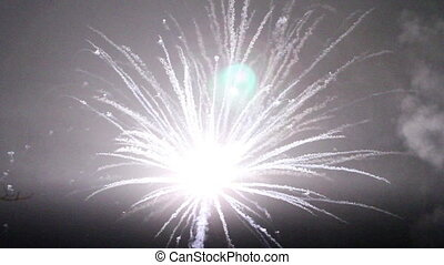Night fireworks in the sky for a holiday