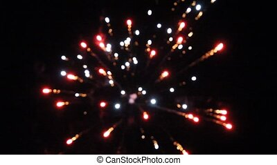 Night fireworks in the sky