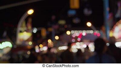 night., footage., defocused, böden, kirmes, messe